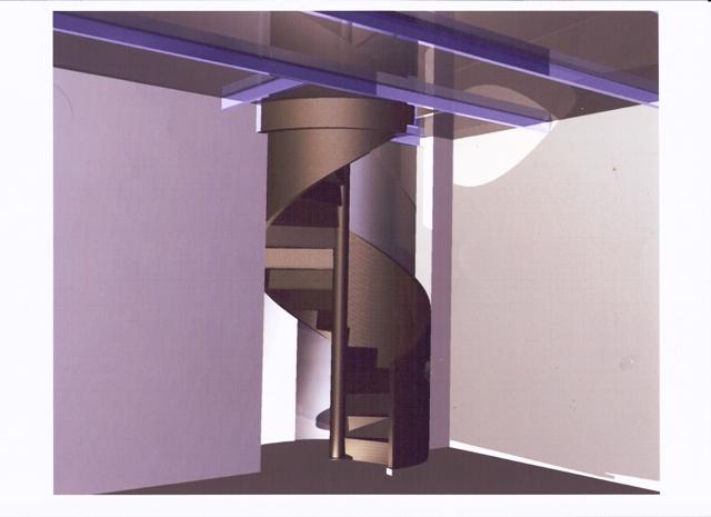 Carbon Fibre Spiral Staircase