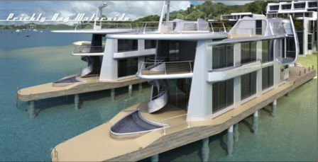 GRP Clad Marine Houses, Prickly Bay Waterside