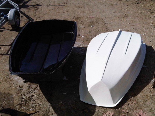 Recycled Pram Dinghy Shell